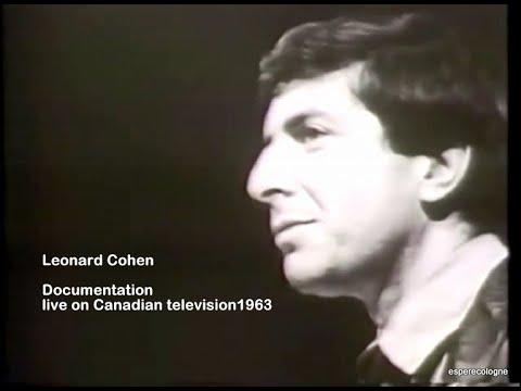 Leonard Cohen Interview   live on Canadian television 1963