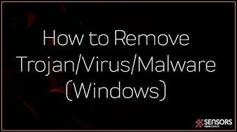 How to Remove a Trojan/Virus/Miner (Windows)