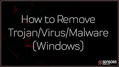 How to Remove a Trojan/Virus/Miner (Windows)