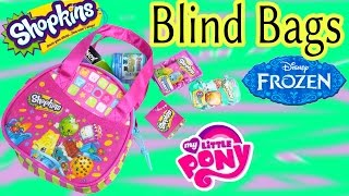 Shopkins Season 3 Mini Purse 2 Blind Bags Baskets Disney Frozen Fash'ems MLP POP Vinyl Video