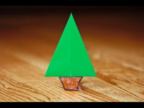 Easy Origami Christmas Tree in [Under 90 Seconds] - YouTube