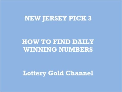 Midday pick 4 lottery new jersey
