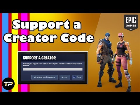[Easy GUIDE] How To Get A Support A Creator Code Easily