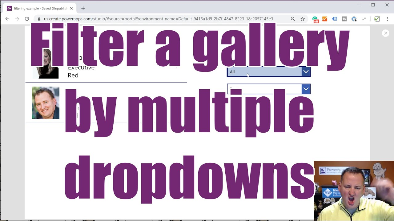 How To Filter a Gallery by Drop-down by Using PowerApps