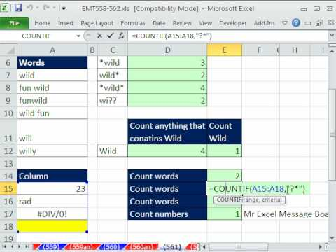 Excel Magic Trick 561: Wildcards * and ?