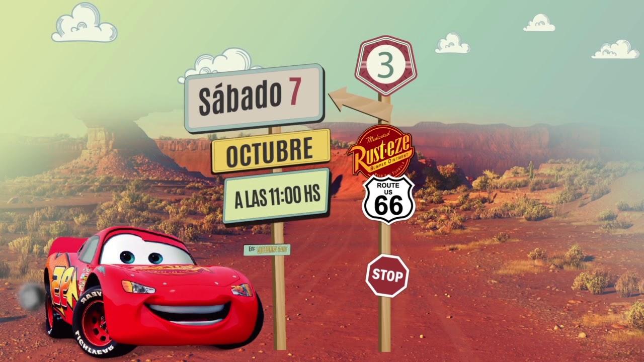 Invitación A Cumpleaños Cars Personalizada Pirulero Pac