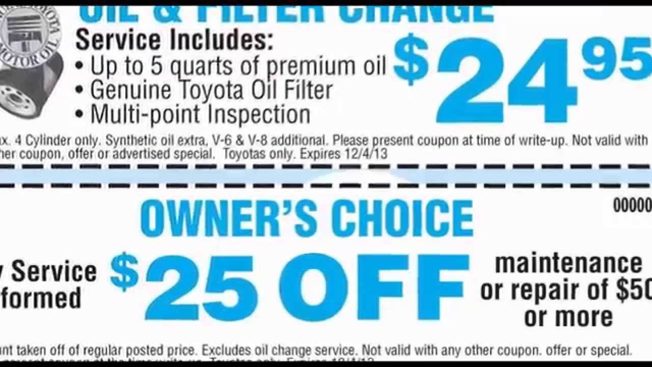 Toyota Synthetic Oil Change Coupon >> Whittier Oil Change Toyota Of Whittier Coupons Get Your Car Serviced