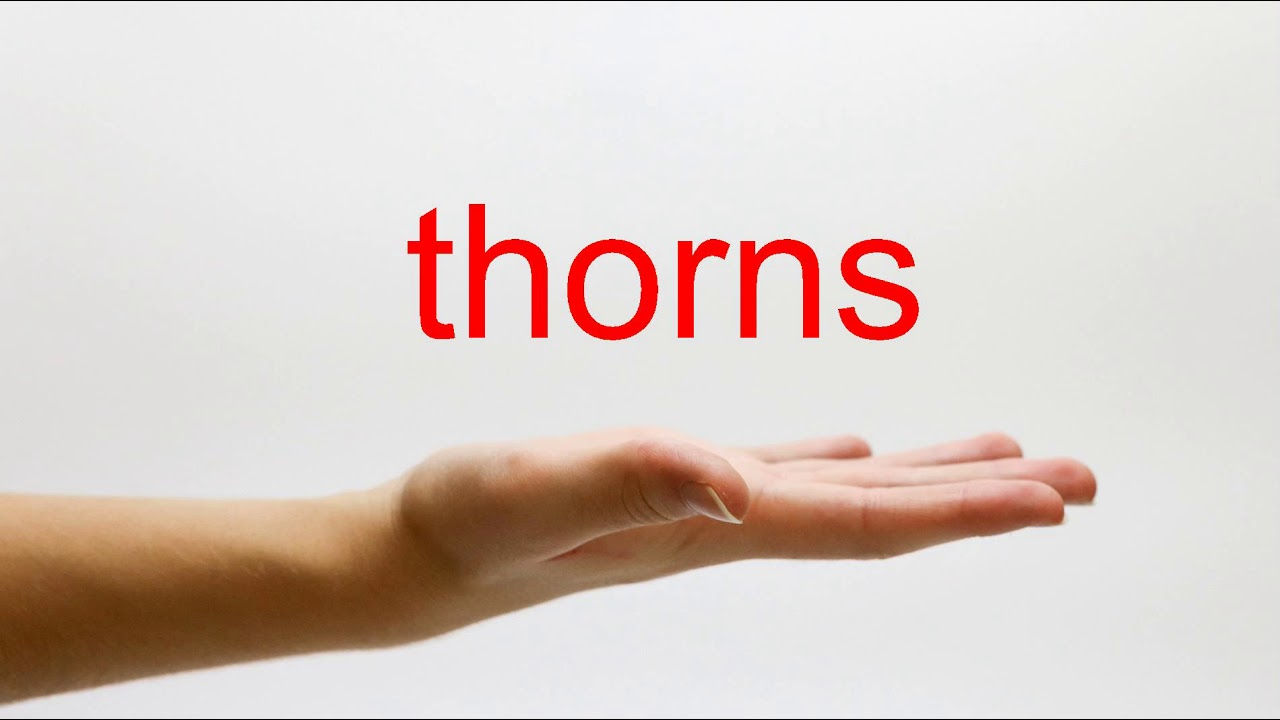 How to Pronounce thorns - American English - YouTube