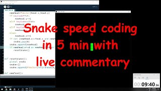 Speed Coding Snake With Live Commentary
