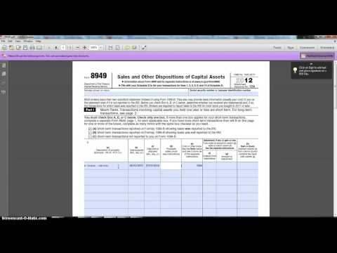 IRS FORM 8949 - YouTube