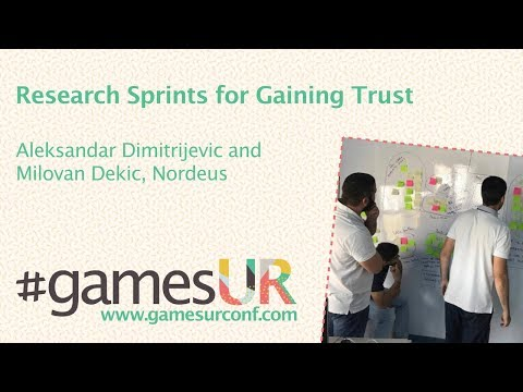 Research Sprints for Gaining Trust - Nordeus
