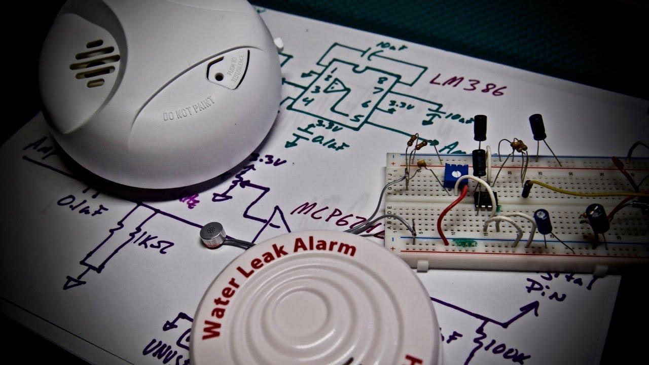 simple smoke alarm listening circuit for arduino [ 1280 x 720 Pixel ]