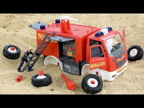 Assembling Fire Truck Car for Kids | Street Vehicles Toys for Children