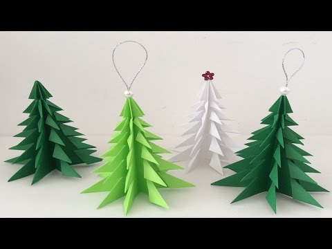 Árbol de navidad de papel. Paper Christmas tree. Christmas decorations.