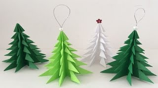 Árbol de navidad de papel. Paper Christmas tree. Christmas decorations. thumbnail