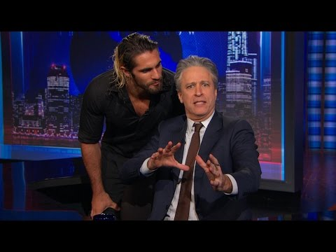 Download Youtube: Seth Rollins crashes 'The Daily Show with Jon Stewart
