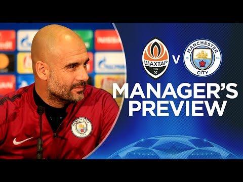 WE PLAY TO WIN | Pep Guardiola Press Conference | Shaktar v Man City | Champions League