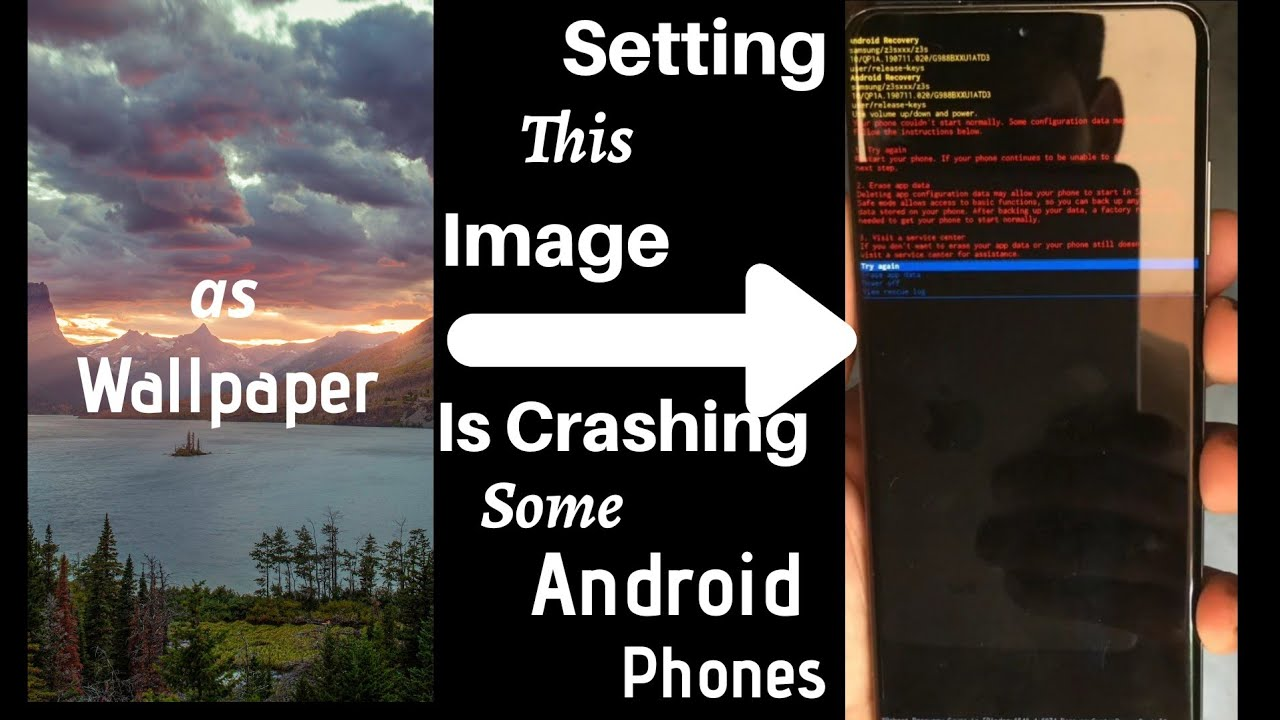 Warning This Image Will Crash Your Android Phone If Set As Wallpaper Never Try This Youtube