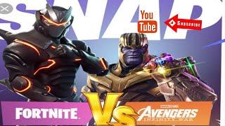 Fortnite Battle Royal Avengers End Game(Fortnite vs Thanos