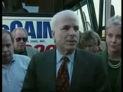 Bush McCain South Carolina Primary 2000 ElectionWallDotOrg