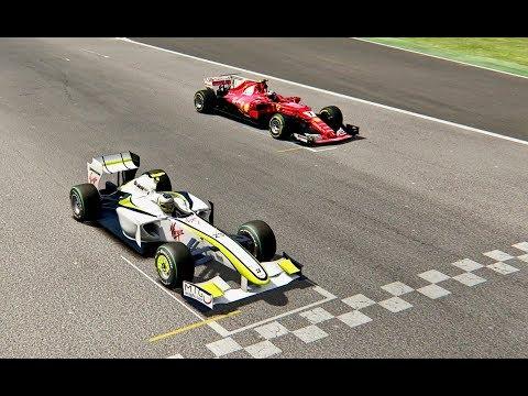 Ferrari F1 2017 vs F1 Brawn GP 2009 - Imola