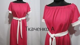 Красотище! Женское Платье цвет Фуксия! HAND MADE DIY Ручная Работа