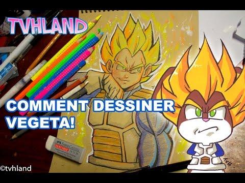Comment dessiner vegeta de dragonball z - Comment dessiner dbz ...