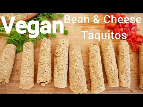 Vegan Bean & Cheese Baked Taquitos Quick & Easy Recipe!