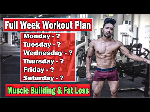 Full Week Gym Workout Plan for Muscle Building & Fat Loss | Bodybuilding