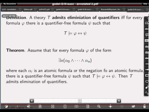 Godel Online Lecture 3: Natural Numbers with Successor