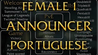 LoL Voices - Locutora Feminina 1 soundboard - Português (do Brasil)