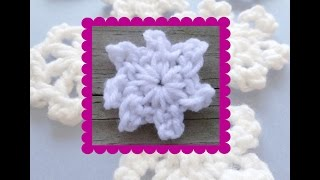 Episode 132: How To Crochet A One Round Snowflake (Star Snowflake)