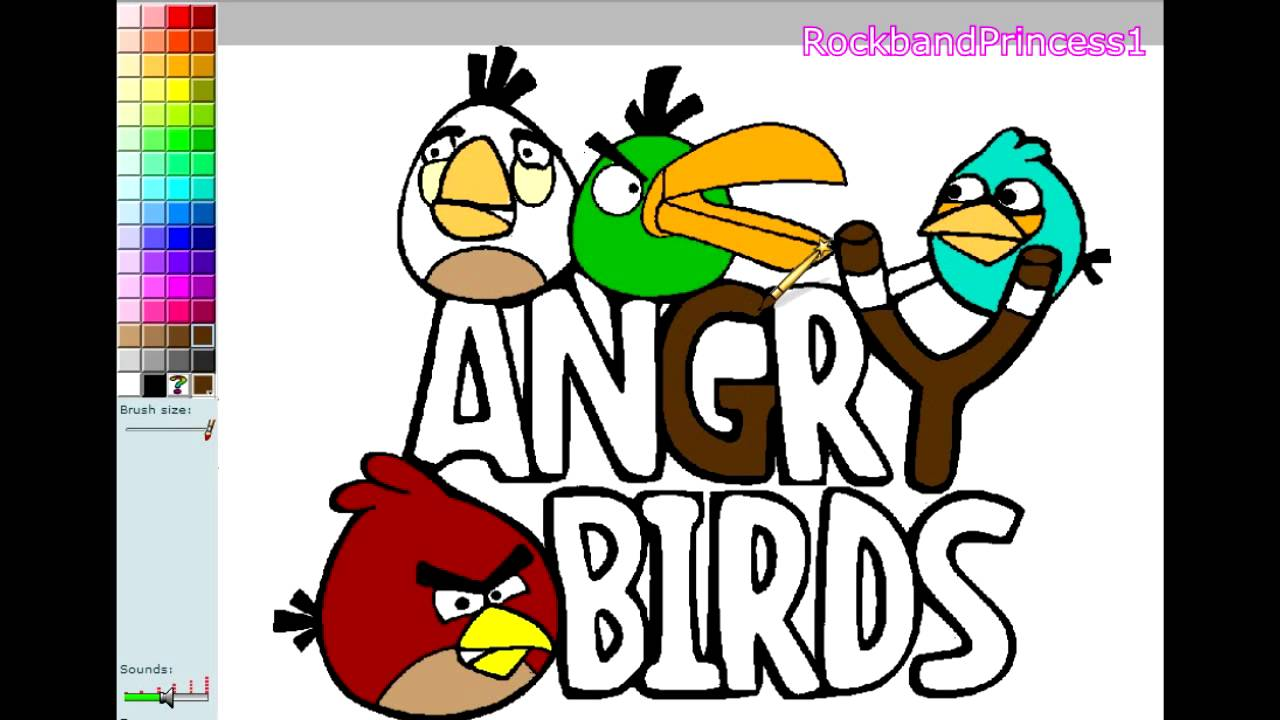angry birds paint and color games online angry birds painting games angry birds coloring games youtube - Online Coloring Games