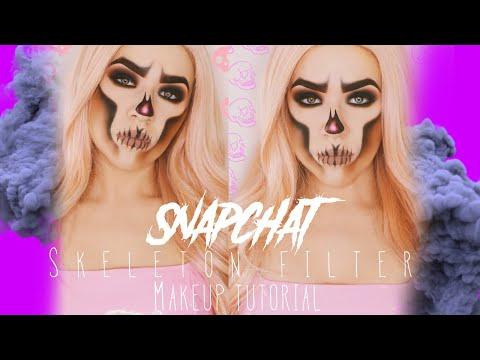 Snapchat Skeleton Halloween Makeup Tutorial | KatEyedTv thumbnail
