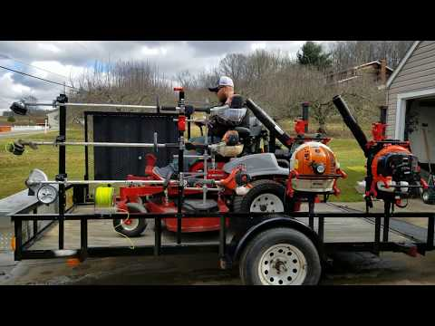 [Lawn Care Trailer Setup 2018] Equipment