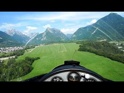 Blanik l-13 landing @ Bovec, Slovenia