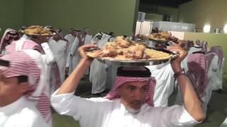 إعداد العشاء في الزواج الجماعي بقبيلة المذاكير 1438هـ