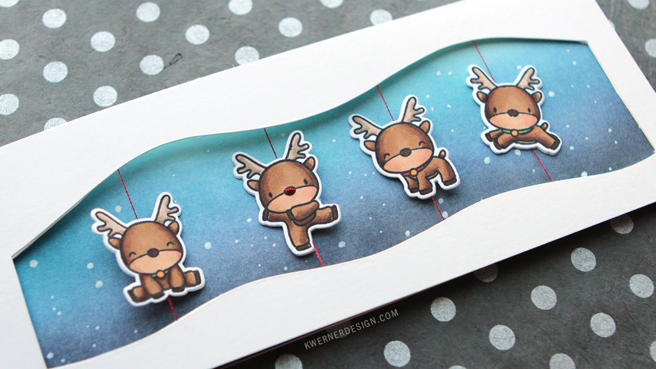 Reindeer Spinner Card (feat. Mama Elephant stamps) - YouTube