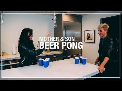 Beer Pong WITH MY MOM | Cameron Phillips