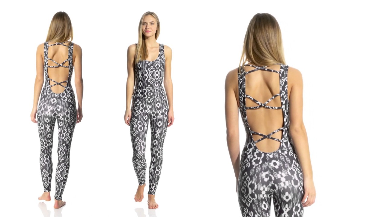 714e84e3c2d Tight patterned jumpsuit - YouTube
