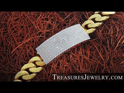 Miami Cuban Link Diamond Custom ID Bracelet | Treasures Jewelry