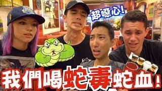 美國知名Youtubers初次體驗台灣美食!他們竟然喝蛇血蛇毒?!【劉沛 VLOG】