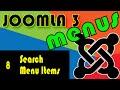 Joomla 3 Tutorials: The Search Menu Items