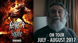 SLAYER - On Tour: July - August 2017 w/ Lamb of God, Behemoth (OFFICIAL TOUR TRAILER)