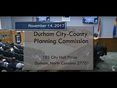 Durham Planning Commission Nov 14, 2017