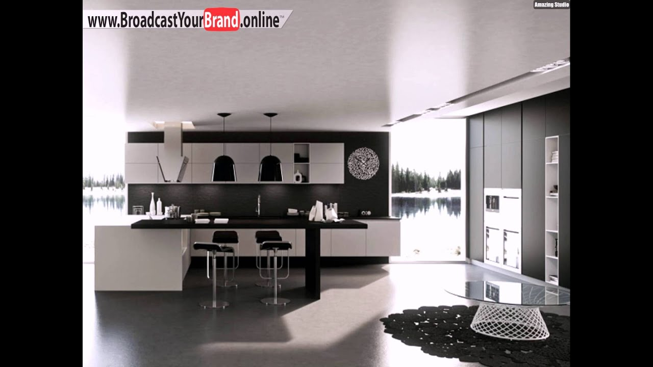 schwarz wei e matt glas k che karisma arrital franco driusso youtube. Black Bedroom Furniture Sets. Home Design Ideas