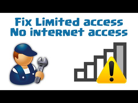 How to fix Limited access /No internet access in windows 10/8/8.1/7