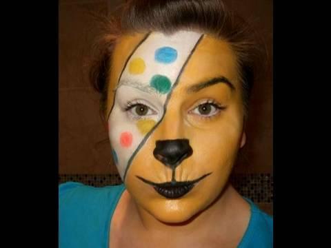 Children in need Pudsey Bear Makeup look.