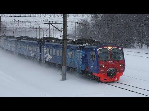 Снегопад на Павелецком ходу. Участок от станции Бирюлёво до платформы Расторгуево.