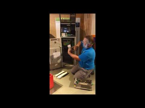 refilling money in the ATM
